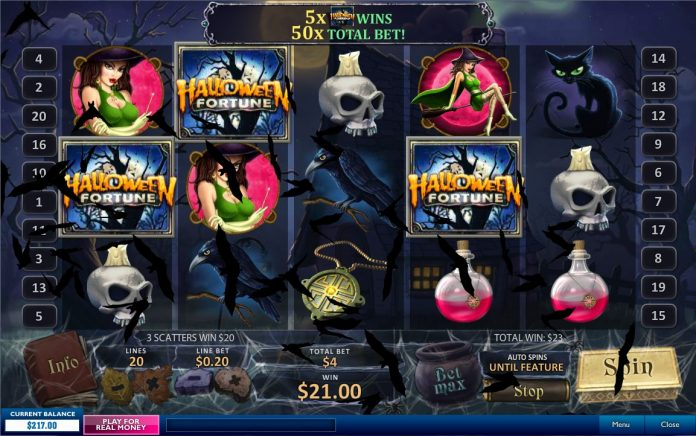 judi slot games Halloween spooky fortune